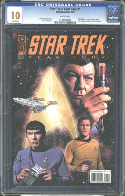 CGC Graded Comics - Star Trek: Year Four #1 (CGC) - Spock - Mccoy - Year Four - Captain Kirk - Outer Space