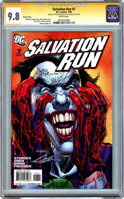 CGC Graded Comics - Salvation Run #7 (CGC) - Joker - Clown - Blood - Teeth - Makeup