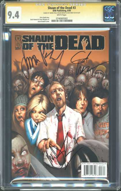 CGC Graded Comics - Shaun of the Dead #3 (CGC) - People - Prown - Blood - Hat - Srceam