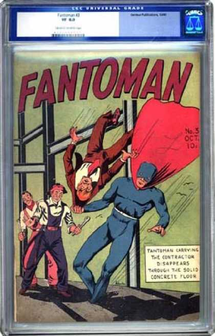 CGC Graded Comics - Fantoman #3 (CGC) - Business Man - Red Cape - Fantoman - Mechanics - Structure