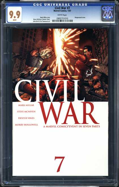 CGC Graded Comics - Civil War #7 (CGC) - Dexter Vines - Steve Mcneven - 99 - Battle - Light
