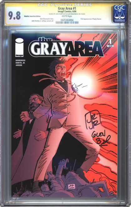 CGC Graded Comics - Gray Area #1 (CGC) - Gray Area 1 - Glen - Red - Autographed - 2 Men