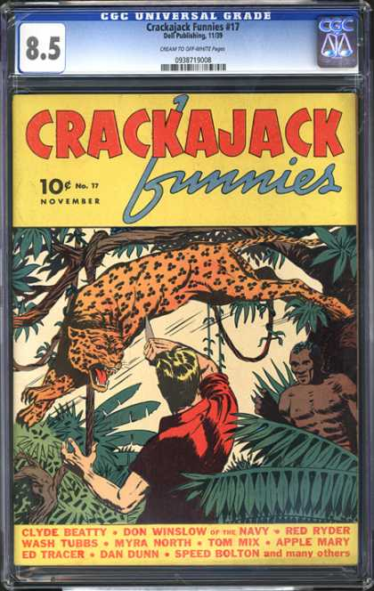 CGC Graded Comics - Crackajack Funnies #17 (CGC) - Crakajack - Tree - Leaves - Leopard - Cylde Beatty