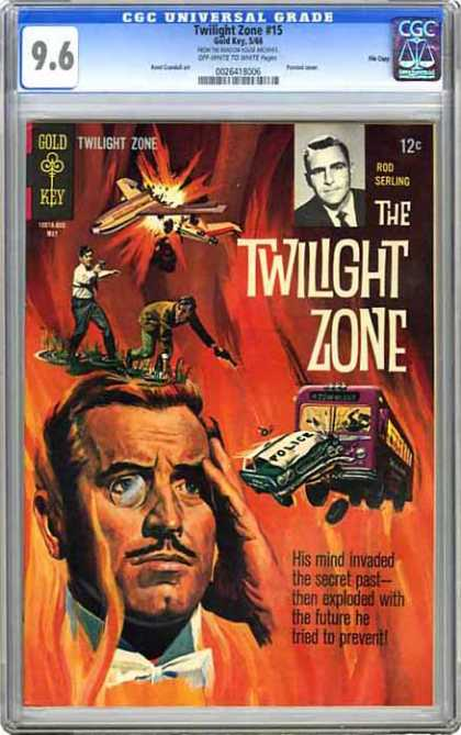 CGC Graded Comics - Twilight Zone #15 (CGC) - Cgc Universal Grade - Gold Key - The Twilight Zone - Rod Sterling - His Mind Invaded The Secret Past-