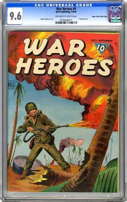 CGC Graded Comics - War Heroes #9 (CGC)