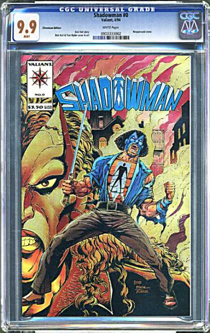 CGC Graded Comics - Shadowman #0 (CGC) - Universal Grade - 99 - Valiant - Cgc - Mask