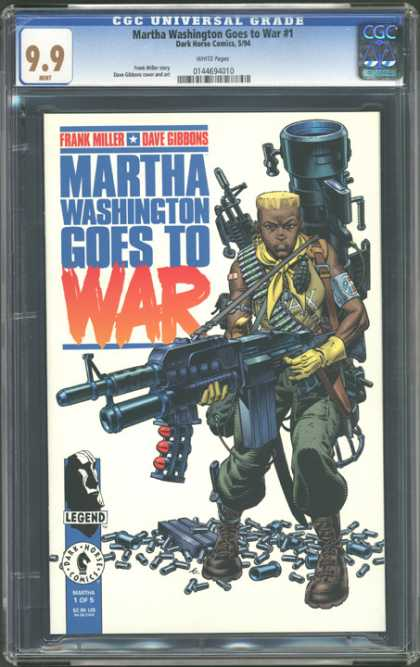 CGC Graded Comics - Martha Washington Goes to War #1 (CGC) - Martha Washinton Goes To War - Frank Miller - Dave Gibbons - Gun - Legend
