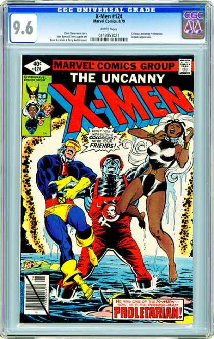 CGC Graded Comics - X-men #124 (CGC) - Storm - Cyclops - Colossus - Wolverine - Water