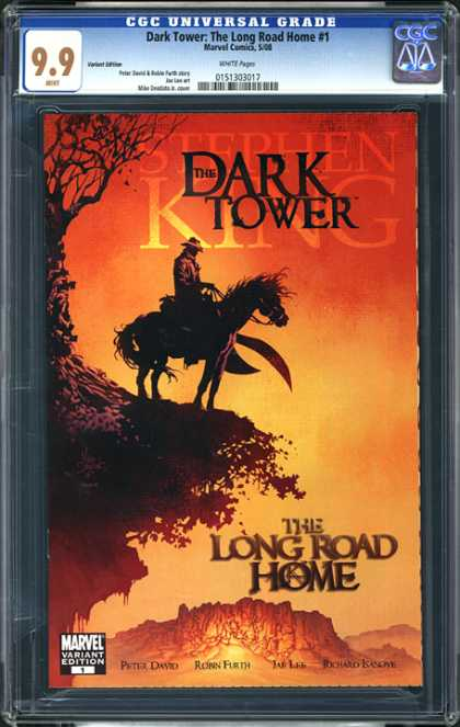 CGC Graded Comics - Dark Tower: The Long Road Home #1 (CGC) - The Long Road Home - Stephen King - Variant Cover - Peter David - Marvel Comics