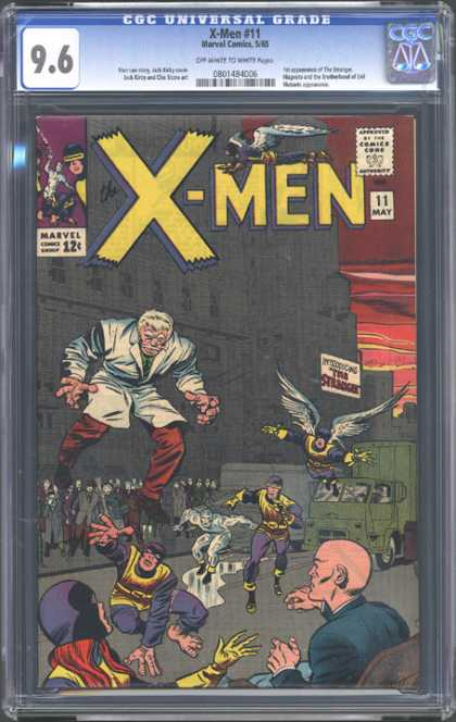 CGC Graded Comics - X-Men #11 (CGC) - Lab Coat - Giant Man - Professor Xavier - Iceman - Cyclops