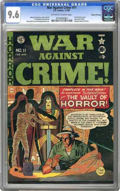 CGC Graded Comics - War Against Crime #11 (CGC) - War Against Crime - Horror - Mummy - Man - Tomb