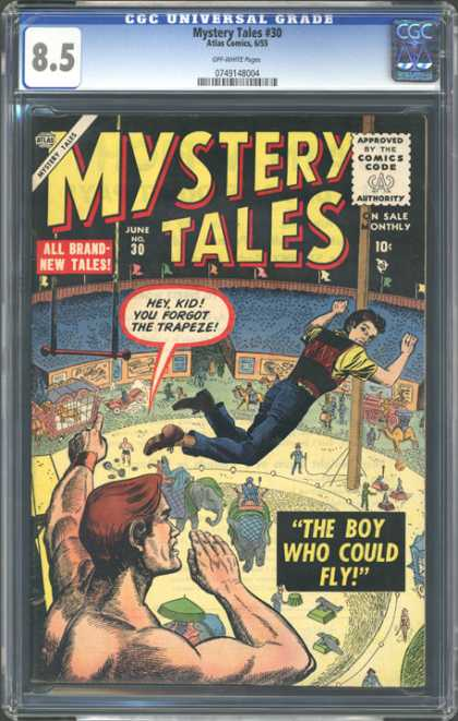 CGC Graded Comics - Mystery Tales #30 (CGC) - The Boy Who Could Fly - All Brand New Tales - Hey - Kid You Forgot The Trapeze - Ground