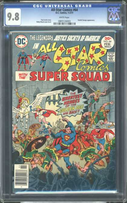 CGC Graded Comics - All Star Comics #64 (CGC) - War - Fight - People - Hero - Swords