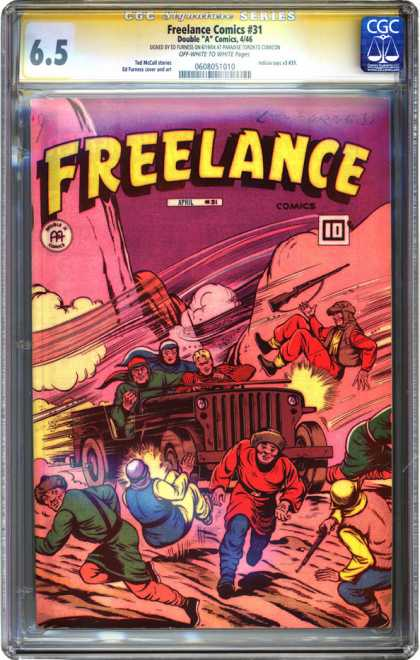 CGC Graded Comics - Freelance Comics #31 (CGC) - Freelance - Wind - Army - Guns - Double A Comics