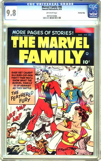 CGC Graded Comics - Marvel Family #86 (CGC) - Battle - Black Cat - Birds - Fury - Dogs