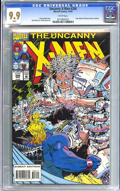 CGC Graded Comics - Uncanny X-Men #306 (CGC) - Head - Eyes - Hair - Arm - Bracelet
