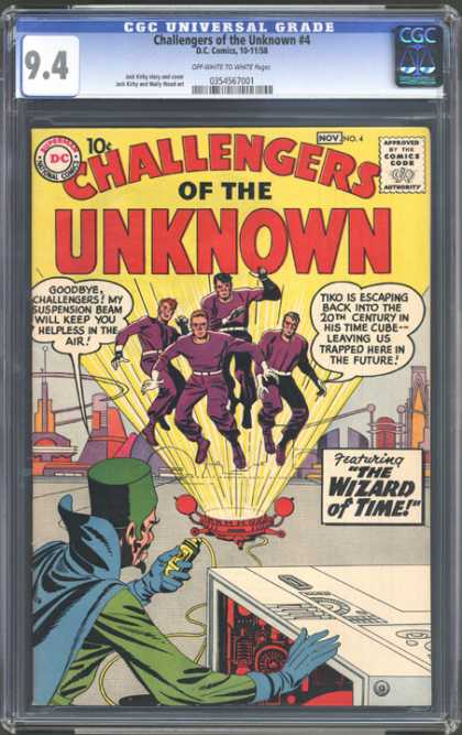 CGC Graded Comics - Challengers of the Unknown #4 (CGC)