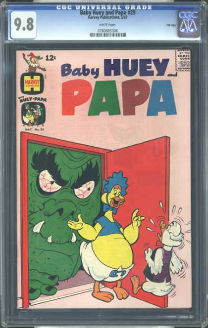 CGC Graded Comics - Baby Huey and Papa #29 (CGC) - Green Monster - Duck - Diaper - Red Door - Bushy Eyebrow