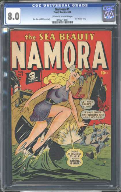CGC Graded Comics - Namora #1 (CGC) - Namora - The Sea Beauty - 1 - August - 10 Cents
