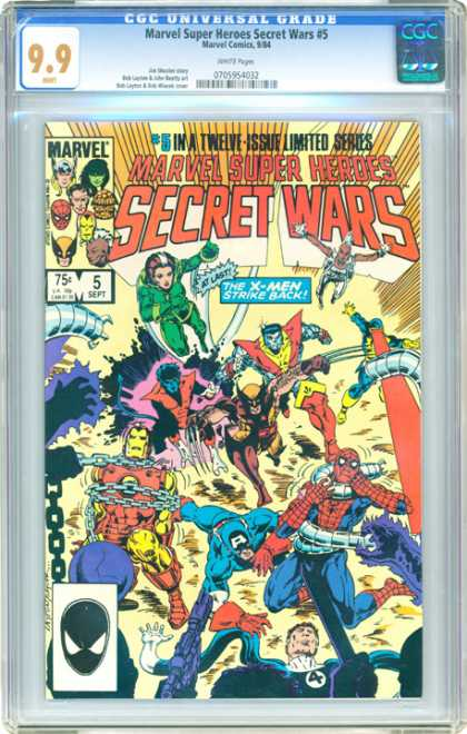 CGC Graded Comics - Marvel Super Heroes Secret Wars #5 (CGC)
