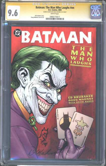 CGC Graded Comics - Batman: The Man Who Laughs #nn (CGC) - Batman - The Man Who Laughs - Ed Brubaker - Joker - Playing Cards
