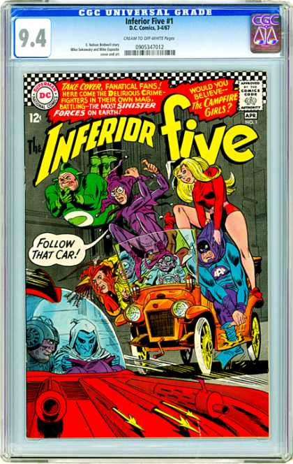 CGC Graded Comics - Inferior Five #1 (CGC)