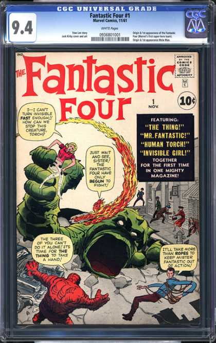 CGC Graded Comics - Fantastic Four #1 (CGC) - The Thing - Mr Fantastic - Human Tourch - Invisible Girl - Fantastic Four 1