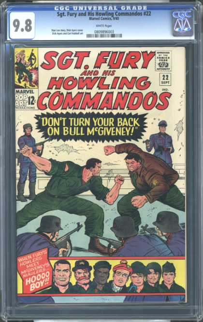 CGC Graded Comics - Sgt. Fury and His Howling Commandos #22 (CGC)
