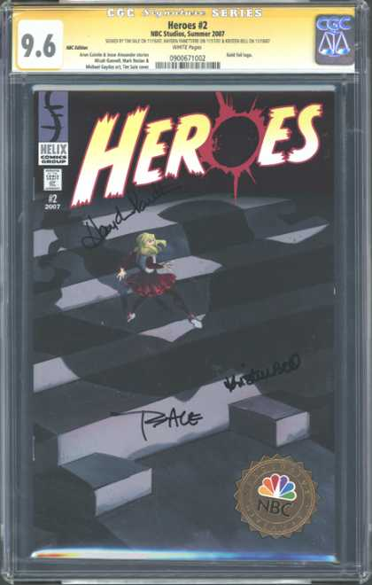 CGC Graded Comics - Heroes #2 (CGC) - Heroes 2 - Helix Comics Group - Ledge - Girl - Shadow