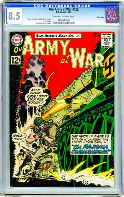 CGC Graded Comics - Our Army at War #122 (CGC) - The Pajama Comandoes - Soldier - Guns - Rock Duck - Battle Tank