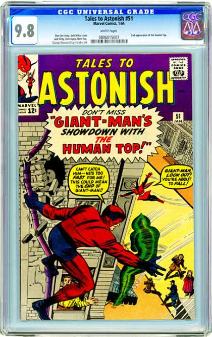 CGC Graded Comics - Tales to Astonish #51 (CGC) - Tales To Astonish - Giant-mans - Green - Building - Marvel