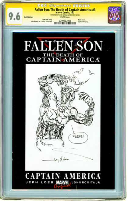 CGC Graded Comics - Fallen Son: The Death of Captain America #3 (CGC) - Fallen Son - Death Of Captain America - Birds - Black And White - Marvel Original