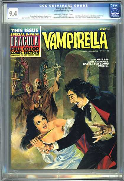 CGC Graded Comics - Vampirella #22 (CGC) - Vampire - Monks - Crosses - Stained Glass - Stake