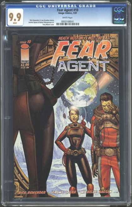 CGC Graded Comics - Fear Agent #10 (CGC) - Heath Huston - Fear Agent - Earth - Planet - Space