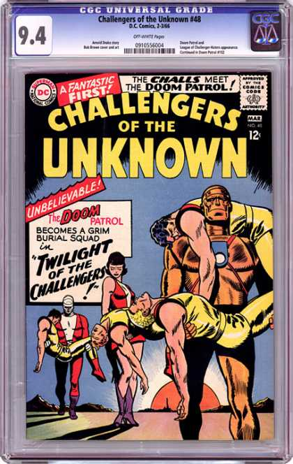CGC Graded Comics - Challengers of the Unknown #48 (CGC)