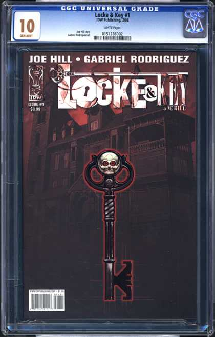 CGC Graded Comics - Locke & Key #1 (CGC) - Joe Hill - Locke U0026 Key - Gabriel Rodriguez - Key - Castle