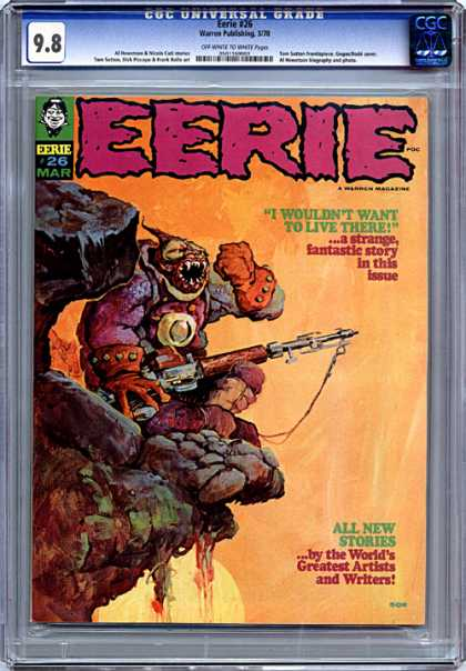 CGC Graded Comics - Eerie #26 (CGC) - As Creepy As It Gets - The Nother World - Issue 26 - Fantastic Illustrations - Sitting On The Edge Of The Rock