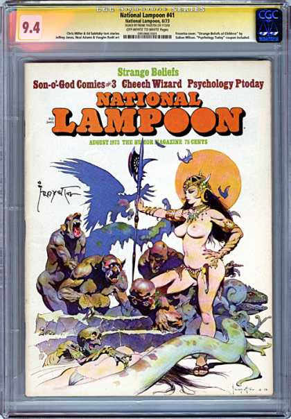 CGC Graded Comics - National Lampoon #41 (CGC) - National - Warrior - Goddess - Monsters - Triumph