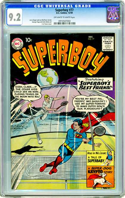 CGC Graded Comics - Superboy #77 (CGC) - Epic Battle - Out Of This World - Super - Strong - Hero