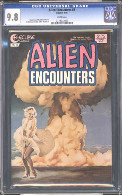 CGC Graded Comics - Alien Encounters #8 (CGC) - Superwomen - Fire - Cover Page - Alien - Flying Gown