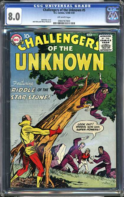 CGC Graded Comics - Challengers of the Unknown #5 (CGC) - Cgc - Dc Comics - Dc - Challengers Of The Unknown - Riddle