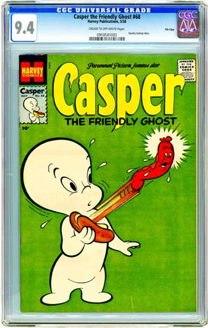 CGC Graded Comics - Casper the Friendly Ghost #68 (CGC) - Ghost - Friends - Funny - Scary - Happy
