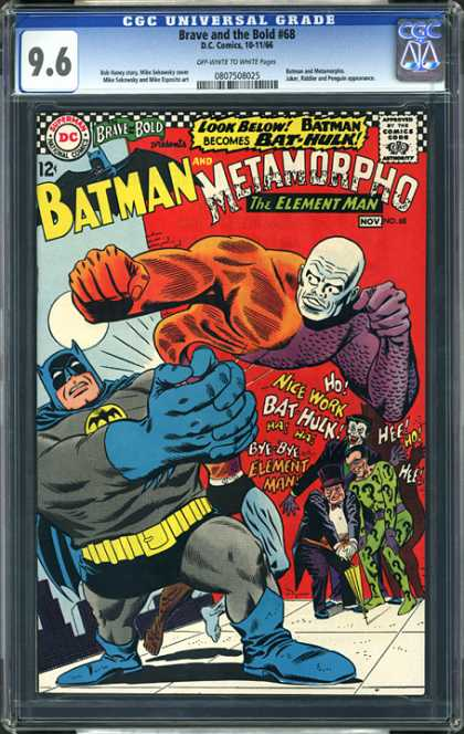 CGC Graded Comics - Brave and the Bold #68 (CGC) - Batman - Metamorpho - Penguin - Joker - Jester