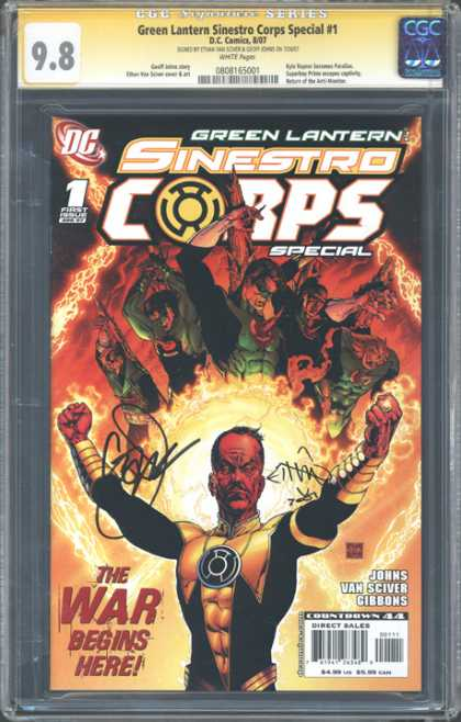 CGC Graded Comics - Green Lantern Sinestro Corps Special #1 (CGC) - Green Lantern - Sinestro Corps - Ball Of Fire - Rings - War Begins Here