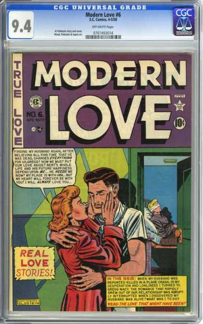 CGC Graded Comics - Modern Love #6 (CGC) - Modern Love - True Love - Real Love Stories - Pillow - Ec Comics