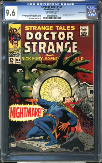 CGC Graded Comics - Strange Tales #164 (CGC) - Doctor Strange - Nick Fury - Nightmare - Marvel - Comics Group