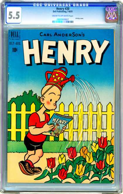 CGC Graded Comics - Henry #20 (CGC) - Carl Anderson - Comic - Fence - Flower - Grass