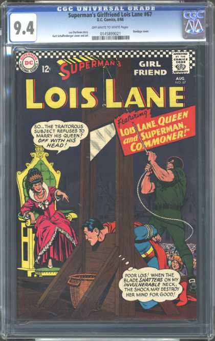 CGC Graded Comics - Superman's Girlfriend Lois Lane #67 (CGC) - Dc - Superman - National Comics - Approved By The Comics Code Authority - Lois Lane