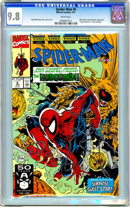 CGC Graded Comics - Spider-Man #6 (CGC) - Hobgoblin - Superhero - Flaming Pumpkin - Spiders Web - Spidey