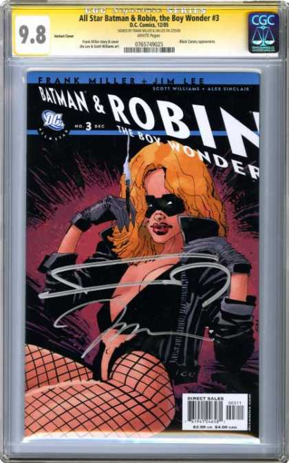 CGC Graded Comics - All Star Batman & Robin, the Boy Wonder #3 (CGC) - Batman - Robin - Cigarette - Fishnet Stockings - Gloves